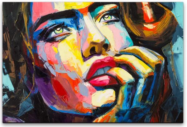 Frau in bunt Wandbild in verschiedenen Größen