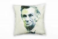 Abraham Lincoln I Deko Kissen Bezug 40x40cm für Couch Sofa Lounge Zierkissen