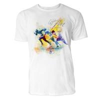 Sprinter im Wettbewerb Sinus Art ® T-Shirt Crewneck Tee with Frontartwork
