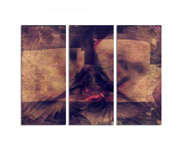 130x90cm Wandbild Abstrakt174 -3x90x40cm