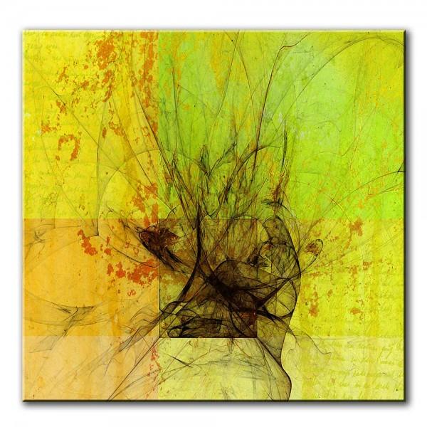 Dunkle Mitte, abstrakt, 60x60cm