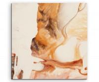 Abstraktes Gemälde – Orange auf Leinwand exklusives Wandbild moderne Fotografie für ihre Wand in vie