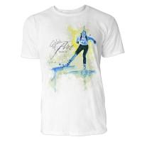 Biathlon Skilanglauf Sinus Art ® T-Shirt Crewneck Tee with Frontartwork