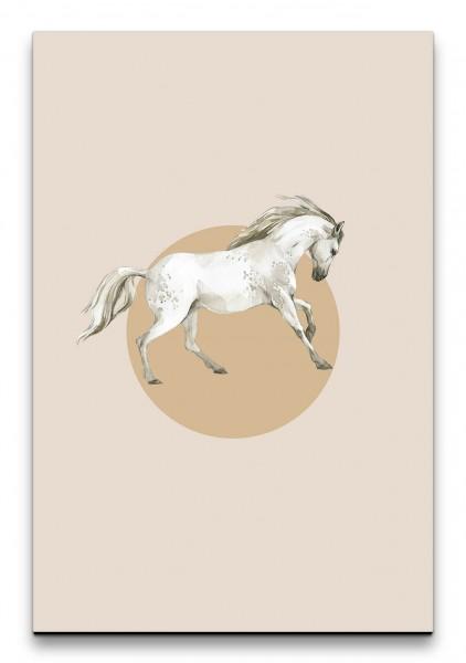 Pferd Elegant Kraftvoll Modern Minimalistisch Wasserfarben Aquarell