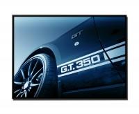 105x75cm Leinwandbild Petrol Shelby Mustang GT 350