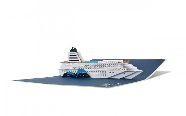 Grußkarte Kreuzfahrtschiff
