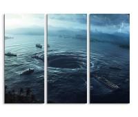 Huge Waterspout Fantasy Art 3x90x40cm