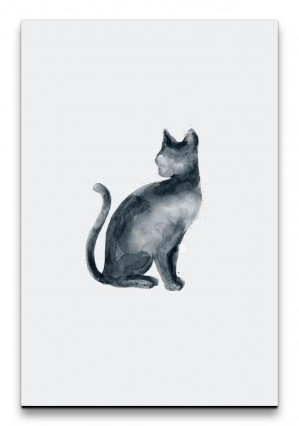 Katze Minimalistisch Wasserfarben Aquarell Modern Dekorativ