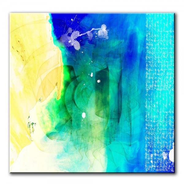 Ozean, abstrakt, 60x60cm