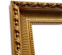 Barockrahmen klassisch gold mit floraler eleganter Struktur