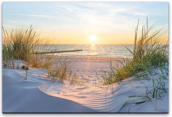 Sonnenuntergang an der Ostsee Wandbild in verschiedenen Größen
