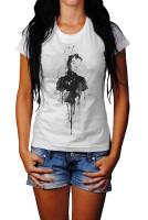 Audrey-Hepburn-III Herren und Damen T-Shirt BLACK-WHITE