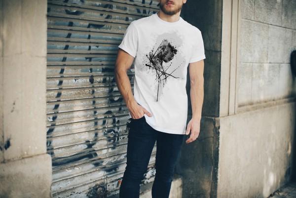 Michael-Jordan Herren und Damen T-Shirt BLACK-WHITE