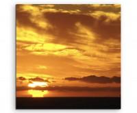 Naturfotografie –  Atmosphärischer Sonnenaufgang auf Leinwand