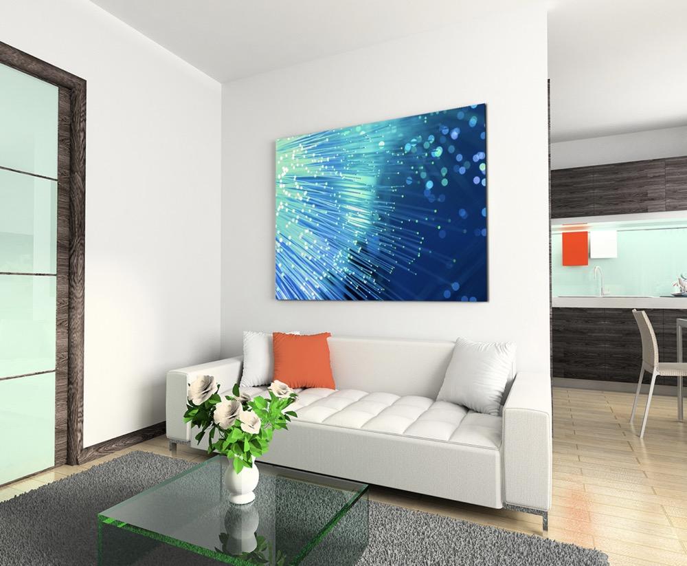 Fotografia – luce blu in fibre di vetro su su su tela ed8e30