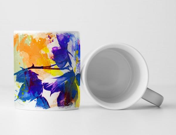 Blume IV Tasse als Geschenk, Design Sinus Art