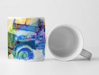 Vintage Jeep Wrangler Tasse als Geschenk,  Design Sinus Art
