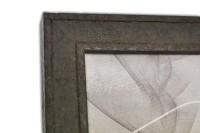 Moderner Echtholzrahmen in Metall Rost Optik