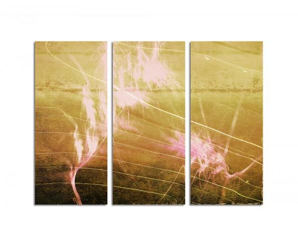 130x90cm Wandbild Abstrakt171 -3x90x40cm