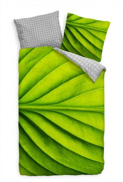 Blatt Makro Grn Nahaufnahme Bettwäsche Set 135x200 cm + 80x80cm Atmungsaktiv