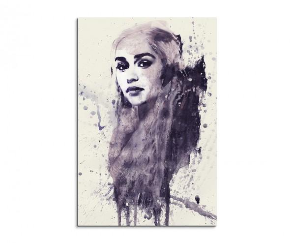 Daenerys Targarye 90x60cm  Aquarell Art Leinwandbild
