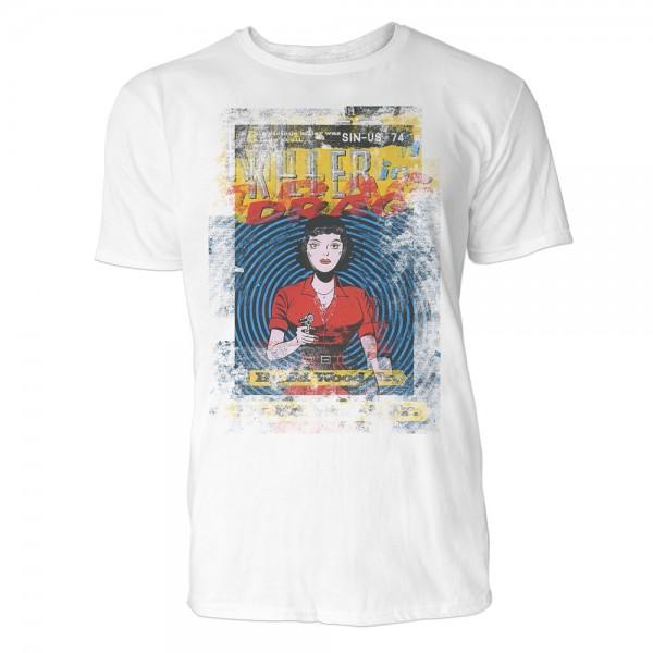 Killer in Drag Herren T-Shirts in Karibik blau Cooles Fun Shirt mit tollen Aufdruck