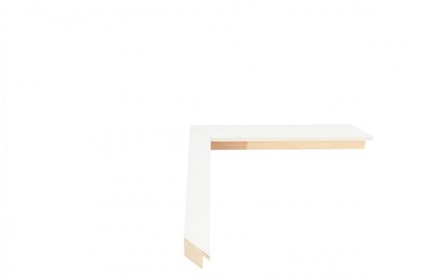 Echtholz Bilderrahmen TRIBECA - White - Square