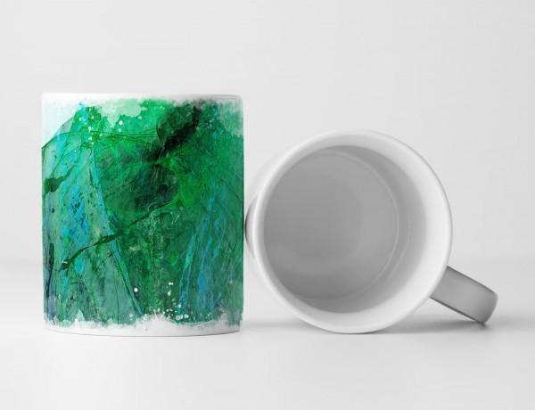 Tasse Geschenk Smaragdgrüne Abstraktion