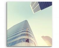 Architektur Fotografie – Minimalistische Wolkenkratzer, Denver auf Leinwand exklusives Wandbild mode