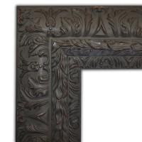 Exklusiver Echtholzrahmen in schwarz-braun verziert