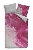 Eis Blume Pink Makro Luftblasen Bettwäsche Set 135x200 cm + 80x80cm  Atmungsaktiv