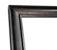 Industrial Chic schmal Rahmenleiste geprägte Oberfläche Zinnoptik