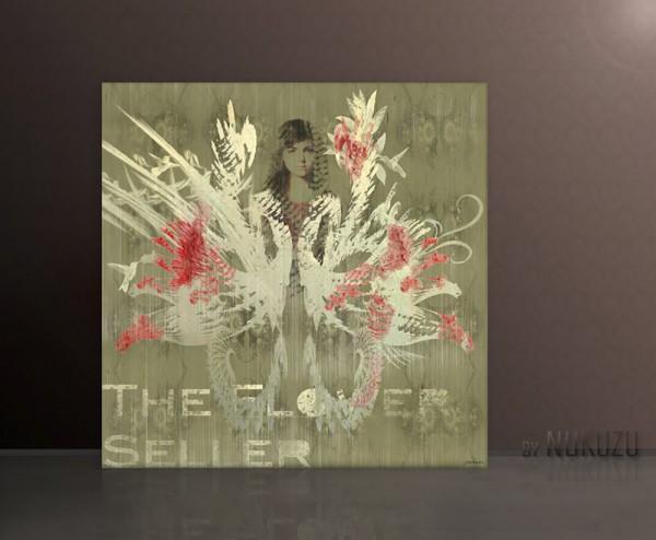 THE FLOWER SELLER 110x110cm