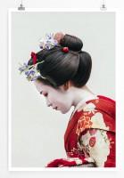 60x90cm Poster Künstlerische Fotografie – Porträt einer Maiko Geisha in Gion Kyoto