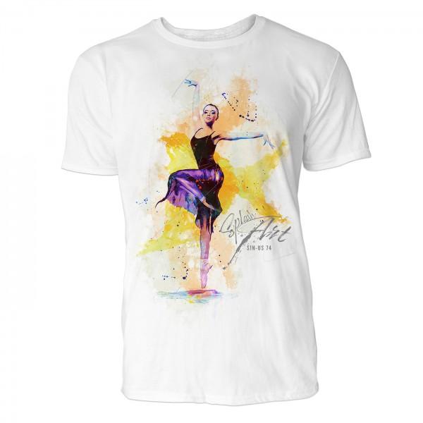 Ballerina in der 3. Position Sinus Art ® T-Shirt Crewneck Tee with Frontartwork