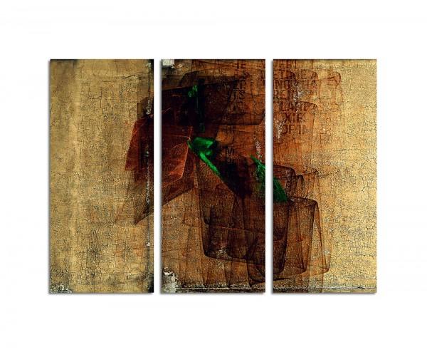 130x90cm Wandbild Abstrakt169 -3x90x40cm