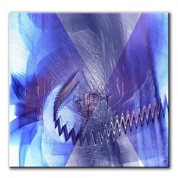 Blaues Licht, abstrakt, 60x60cm