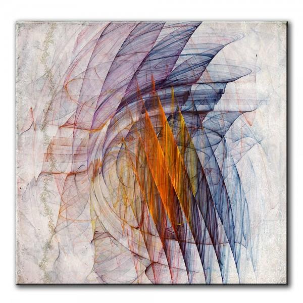 Phantasiewelt, abstrakt, 60x60cm