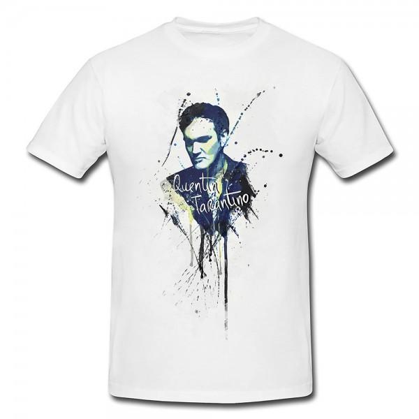 Quentin Tarantino II Premium Herren und Damen T-Shirt Motiv aus Paul Sinus Aquarell