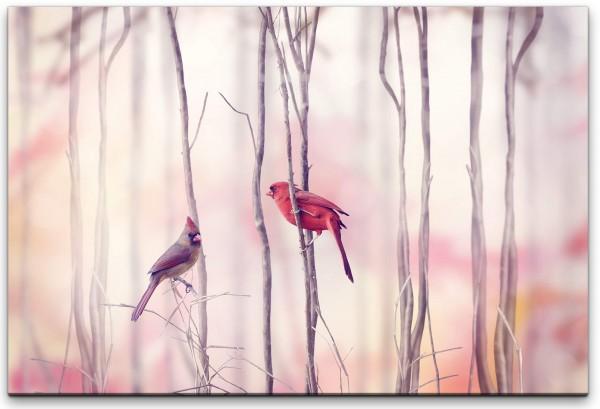 Vögel auf Ästen Wandbild in verschiedenen Größen