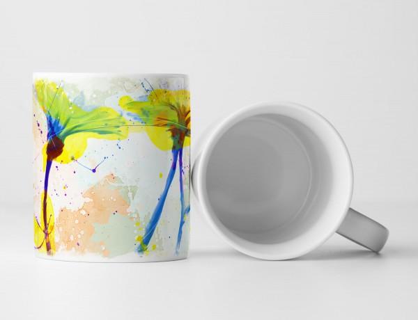 Blumen X Tasse als Geschenk, Design Sinus Art