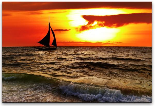 Tropischer Sonnenuntergang Wandbild in verschiedenen Größen