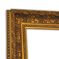 Exklusiver Echtholzrahmen Antik gold in Barockoptik