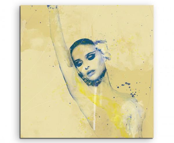 Natalie Portman V Aqua 60x60cm Wandbild Aquarell Art