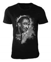 Salvador Dali Damen und Herren T-Shirt schwarz / black