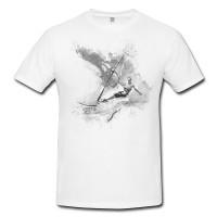 Windsurfer II Herren und Damen T-Shirt BLACK-WHITE