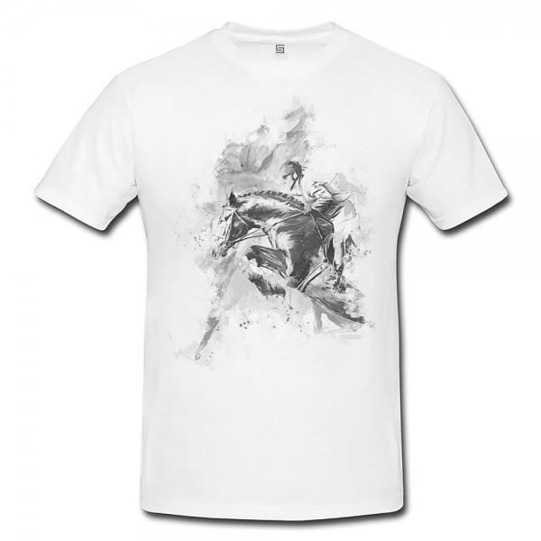 Reitsport I Herren und Damen T-Shirt BLACK-WHITE