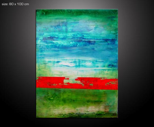 patience - Gemälde in  leuchtenden Farben 80x100 cm