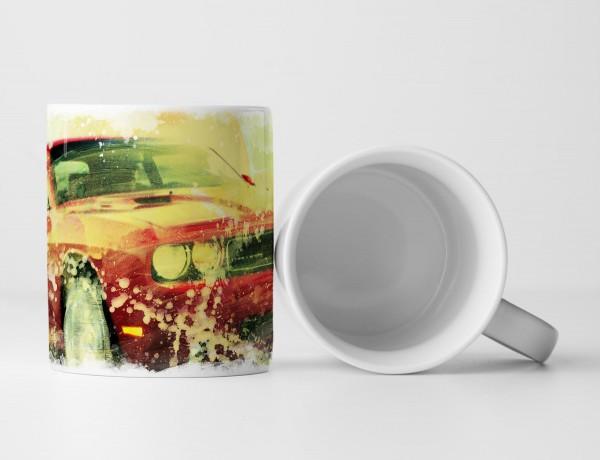 Dodge Challenger Tasse als Geschenk, Design Sinus Art
