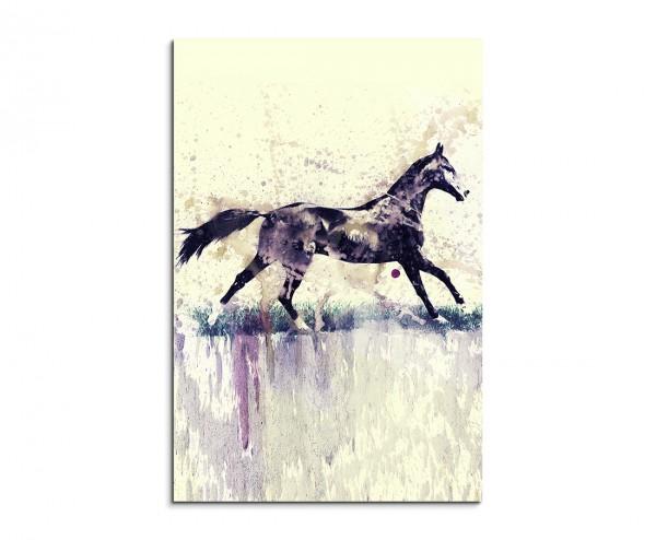 Horse 90x60cm  Aquarell Art Leinwandbild